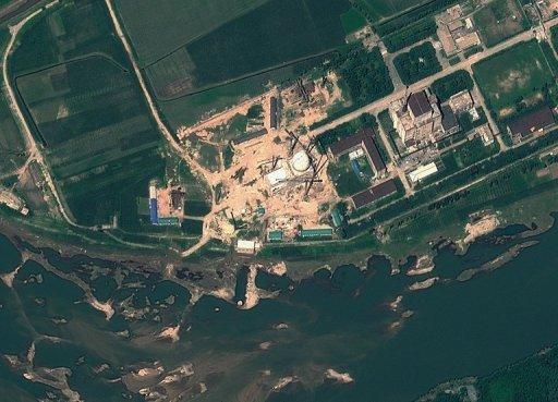 Cette image satellite fournit par GeoEye le 22 Août 2012 démontre des expositions du Centre de recherche scientifique nucléaire de Yongbyon en Corée du Nord.