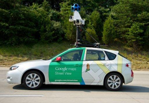 Un Google Street View pousse près de Centreville, en Virginie, aux Etats-Unis le 28 Juin, 2012.
