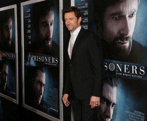 Acteur Hugh Jackman, photographié à la première de «prisonniers» à Beverly Hills, en Californie, le 12 Septembre 2013,
