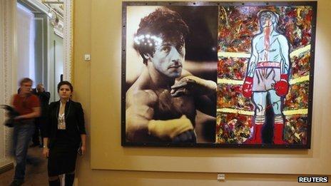 Quelque 30 pièces créées par Sylvester Stallone sont exposées au musée russe