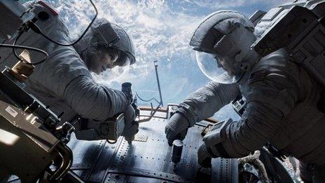 Gravity avec Sandra Bullock et George Clooney
