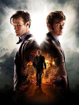 « Le Jour du Docteur » avec les stars Matt Smith, John Hurt et David Tennant.