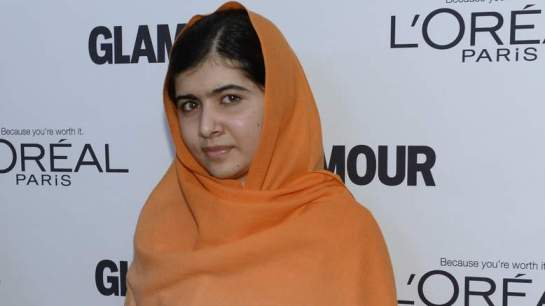 Malala Yousufzai  à la cérémonie de Glamour Women of the Year Award de l'année 2013