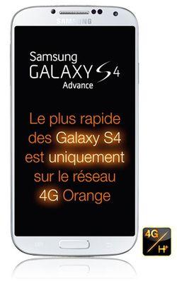 Orange lance en exclusivité le Samsung Galaxy S4 Advance