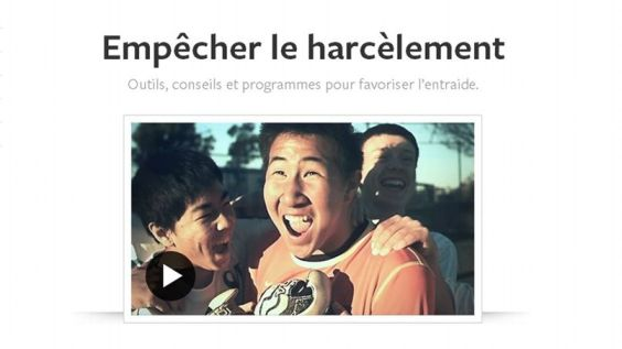 Capture d'écran du portail anti harcèlement de facebook