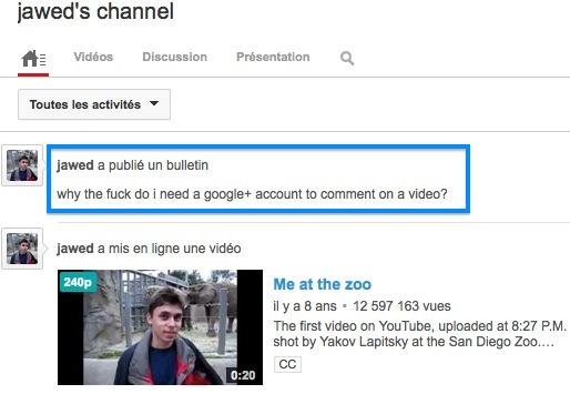 Pour commenter sur YouTube, il faut désormais disposer d'un compte Google+