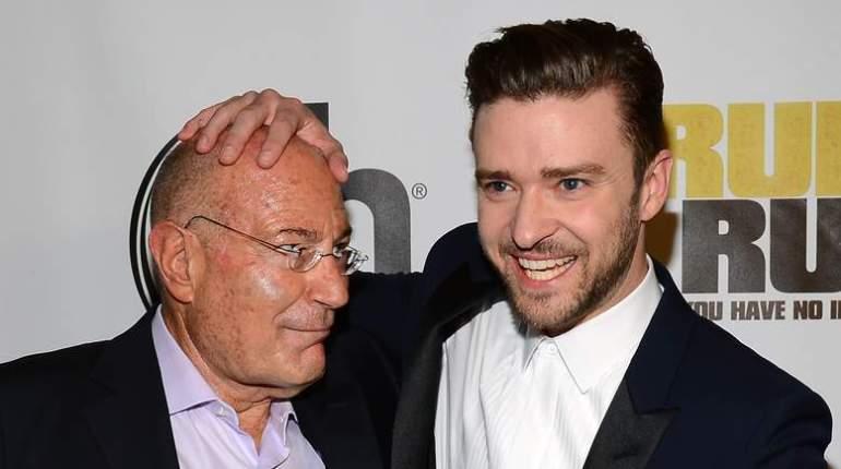 M. Milchan avec Justin Timberlake lors d'une projection récente de Runner Runner