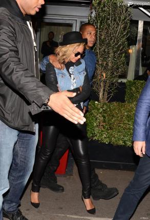 Beyoncé Knowles et Jay Z à Paris, le 13 octobre 2013