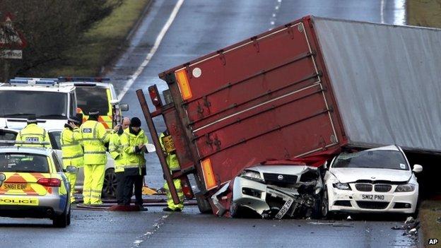 En Ecosse, un chauffeur de camion a été tué