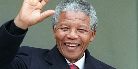 Nelson Mandela lors de sa venue en France, en juin 1990