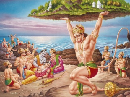 l'indien ayant une queue a été associé à ce dieu  Hanuman