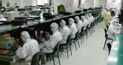 plus d'un million d'individus travaillent pour le groupe Foxconn