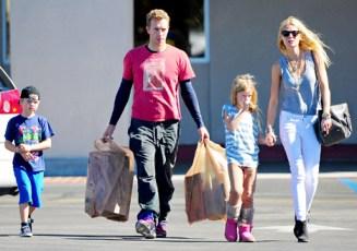 Gwyneth Paltrow et Chris Martin et leurs enfants