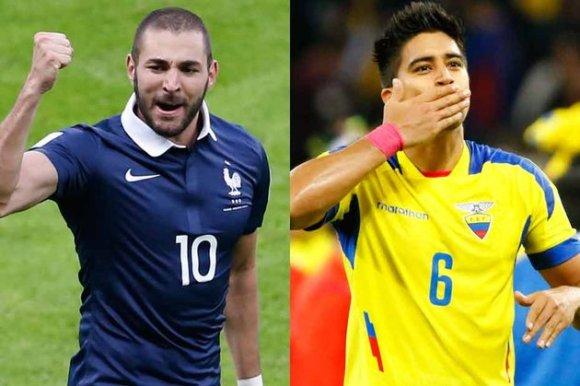 Match Equateur France en direct Tv et streaming sur Internet