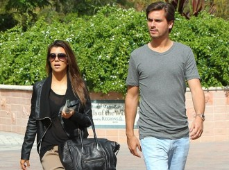 Kourtney Kardashian et son compagnon Scott Disick