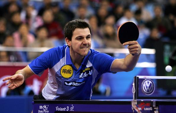 Le ping-pong et la présentation des Championnats d'Europe de tennis de table