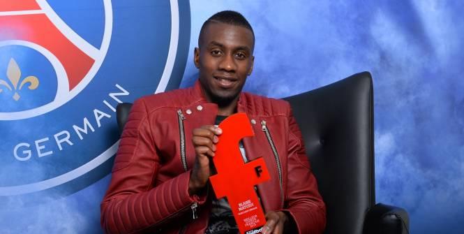Blaise Matuidi est élu joueur de l'année 2015 et devance Paul Pogba