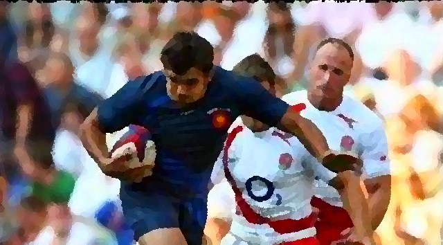 Rugby Match France Angleterre