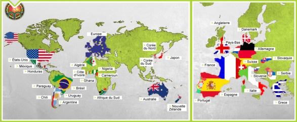 Pays de la coupe du monde 2010