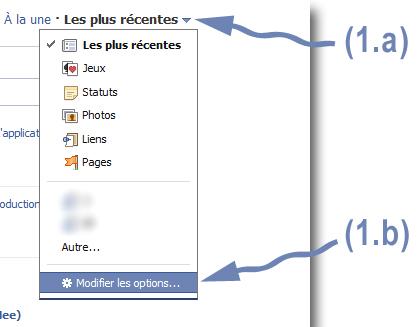 Étape 1 - Facebook : personnaliser le fil d'actualité