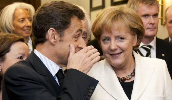 Nicolas Sarkozy & Angela Merkel