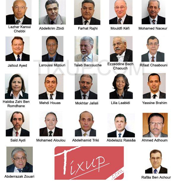 Le Gouvernement d'Union Nationale nommé le 07 mars 2011