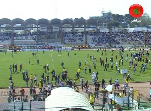 Des violences lors du match du Club Africain Bizertin et le Club Sportif Sfaxien