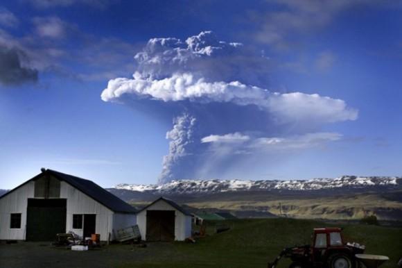 Nuage de cendre du volcan islandais Grimsvötn