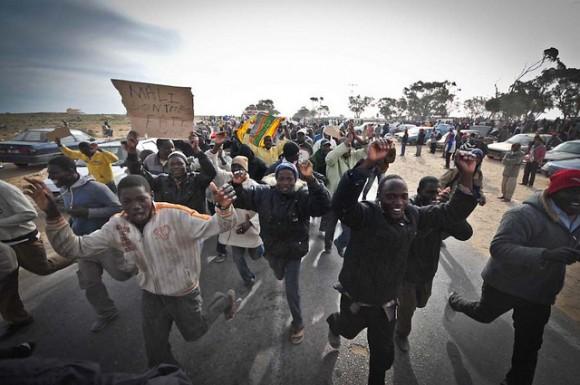 Affrontements entre des réfugiés africains et les habitants de Ben Guerdane ©CAMILLE LAMBRECQ