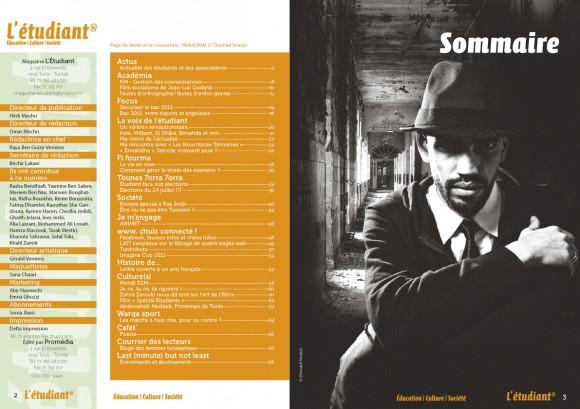Sommaire du magazine L'ÉTUDIANT - Juin 2011