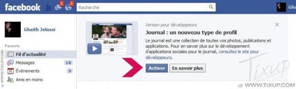 Facebook : activer Timeline - image 05