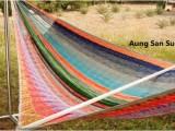 V Weave hammock – Aung San Su Yii