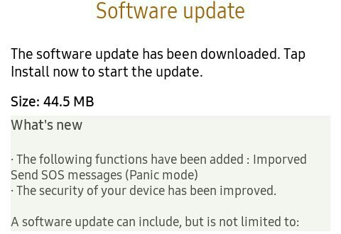 New Tizen Update