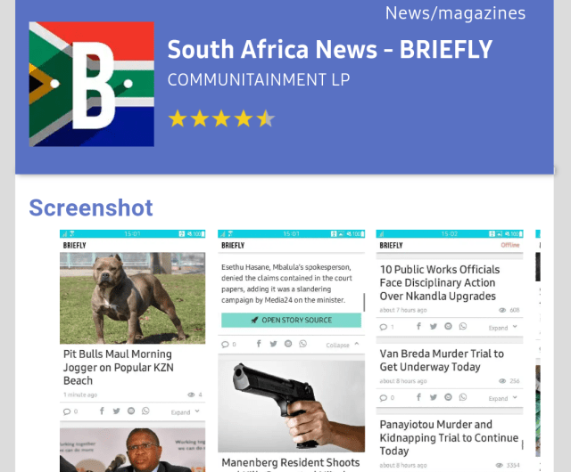 South Africa News Briefly