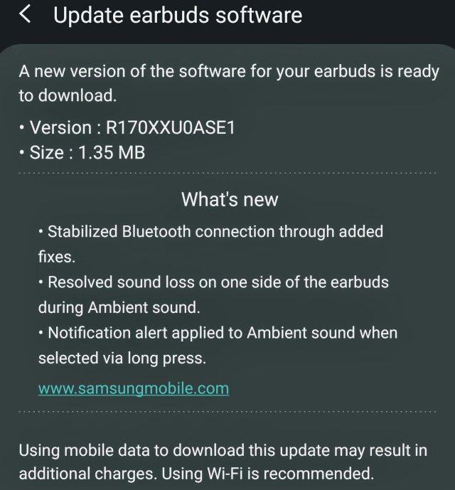 Galaxy Buds Update