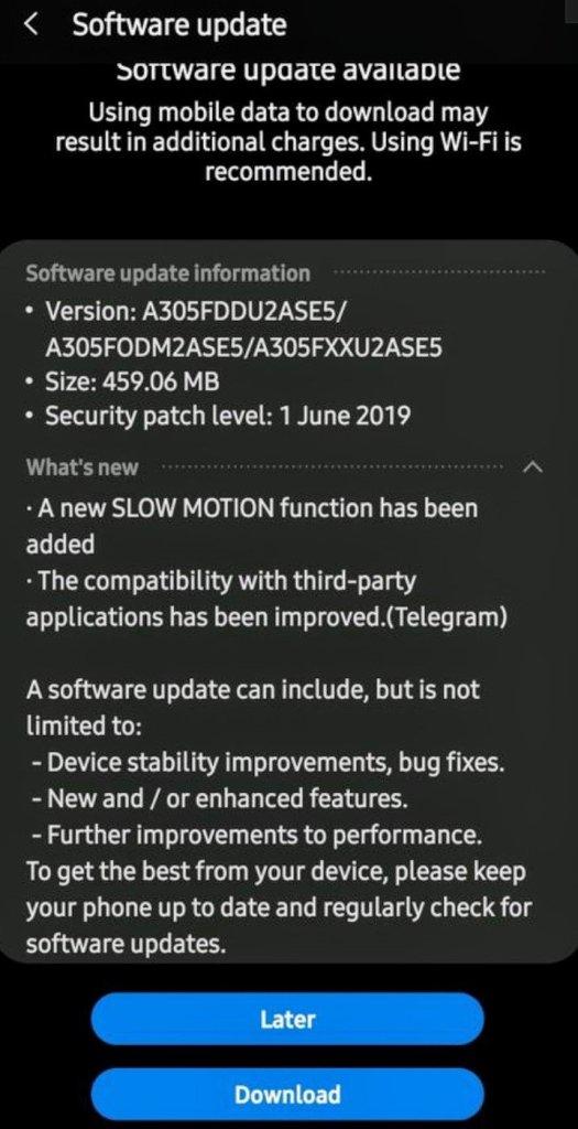 Galaxy A30 Update