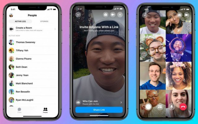 Facebook Rooms Video Calling