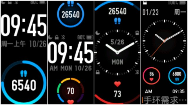 Watch Faces on Mi Band 5