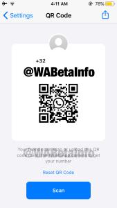 WhatsApp QR Code Update