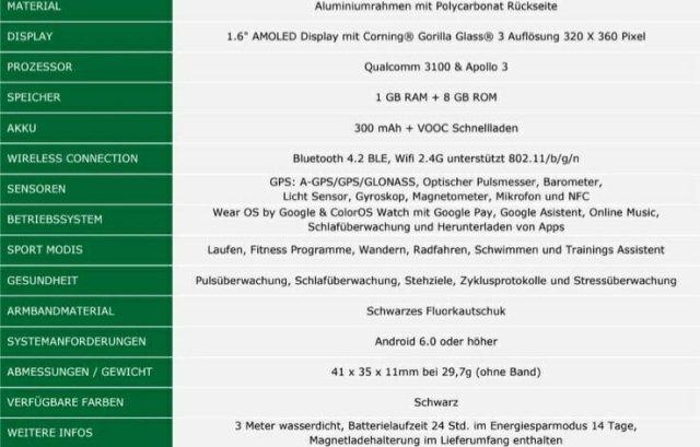 Oppo Watch in Germany