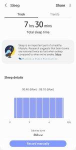 Galaxy Fit 2 Sleep Tracking