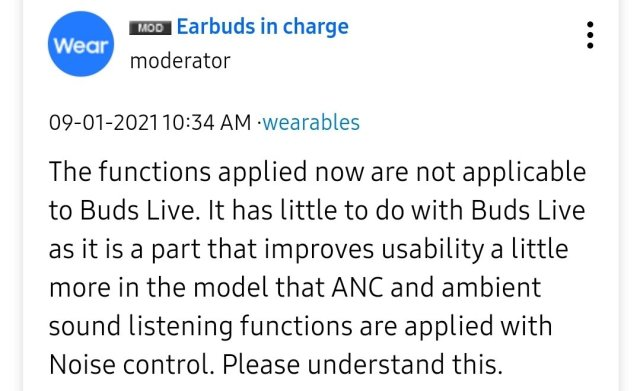 Galaxy Buds Live Update Related