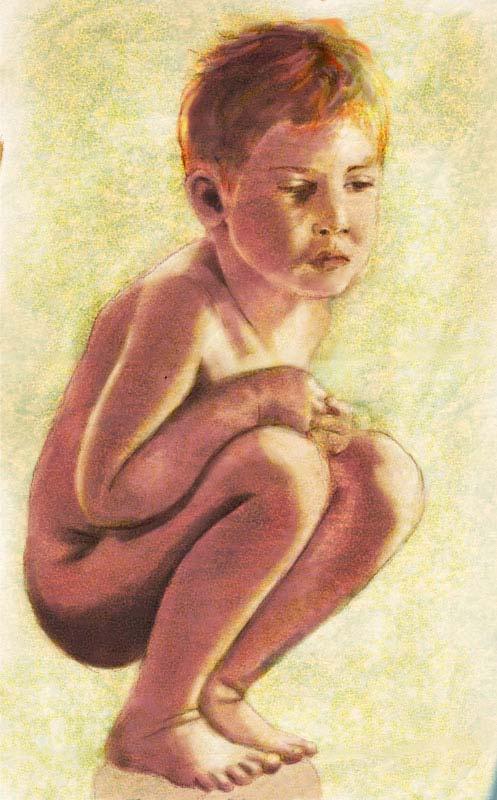 bozzetto per il dipinto 'insight' eseguito con matita cyclop su carta ruvida, e colorato con corel painter