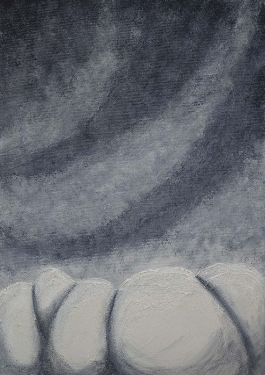 Albatio 50x70 cm acrilico e stucco veneziano su tela