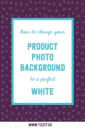 How to change your product photo background to white