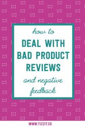 How to deal with bad product reviews