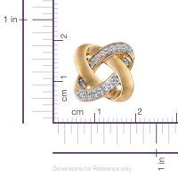 0.15 Carat Diamond Knot Stud Earrings in 14K Gold Overlay ...