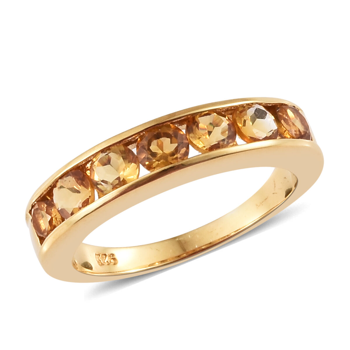 1 Carat Brazilian Citrine Eternity Band Ring In Gold