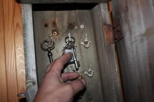 Nøkler i nøkkelskap