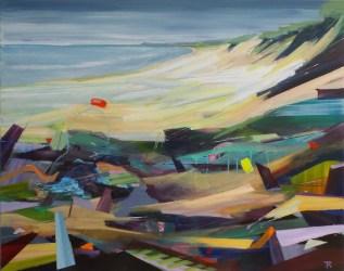 Vakantie aan zee. 2018. acryl op katoen. 80 x 100 cm